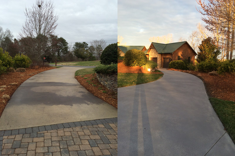 Concrete driveway cleaning char green pressure washing for Cement driveway cleaner