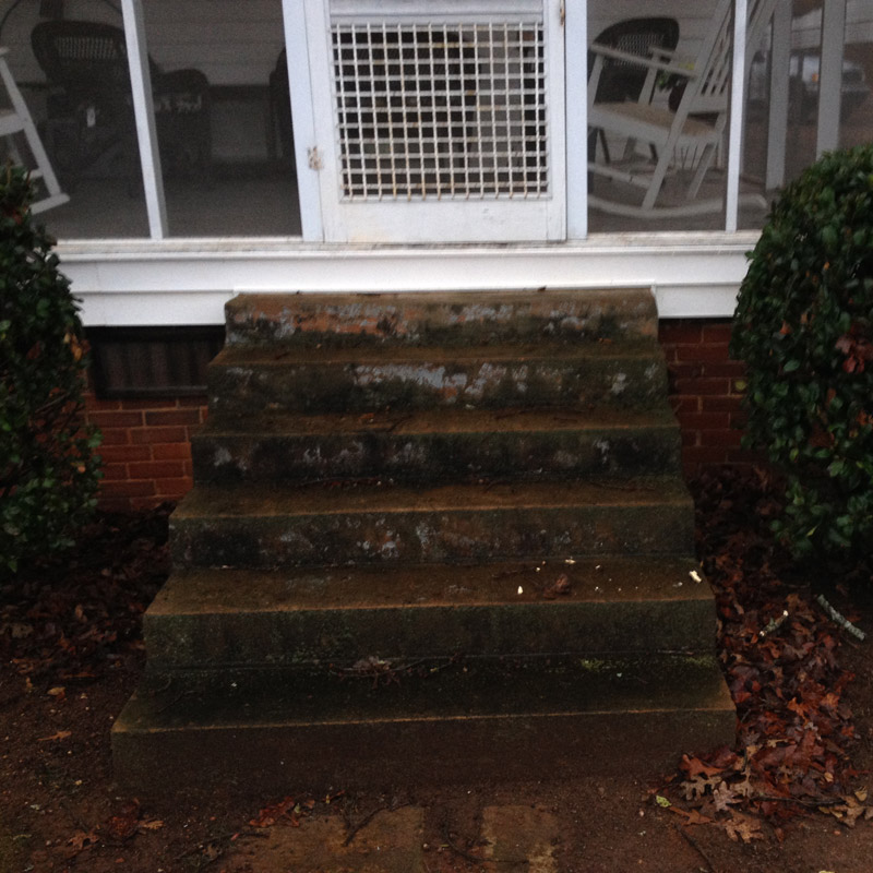 Concrete step cleaning char green pressure washing for Cleaning concrete steps